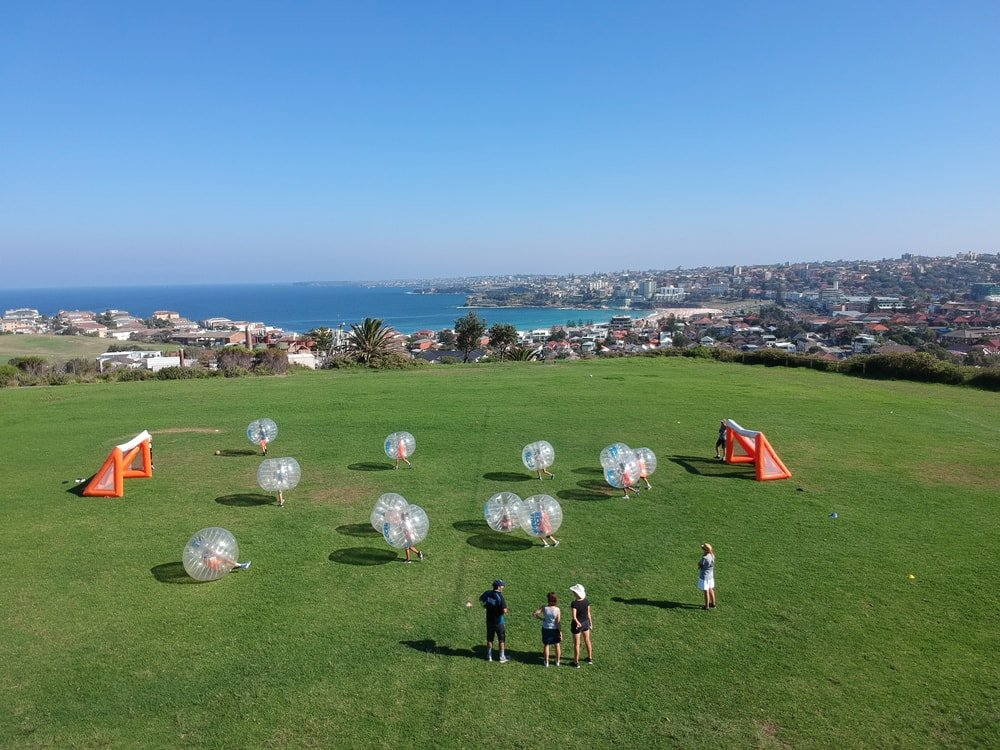 hugh bamford bubble soccer